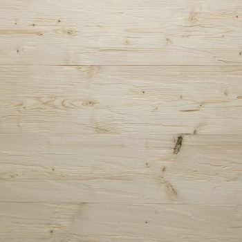 Spruce log wall N:F, chopped, brushed, untreated